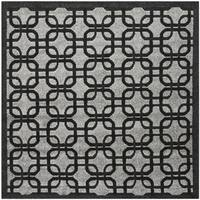 Safavieh York Grey / Black Area Rug - 6'7 Square
