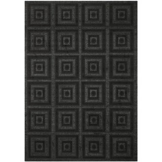 Shop Safavieh York Charcoal Black Geometric Rug 8 X 11