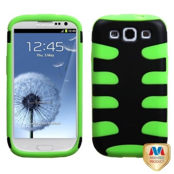 MYBAT Black/ Electric Green Fishbone Cover for Samsung© Galaxy S III