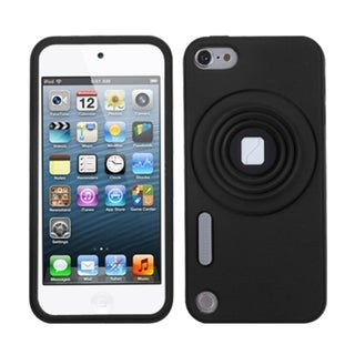 INSTEN Black Camera Style Stand Case Cover for Apple iPod Touch Generation 5