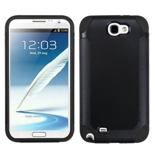 INSTEN Black Frosted Fusion Protector Cover for Samsung Galaxy Note II