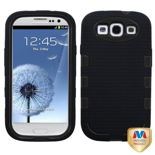 MYBAT Black TUFF eNUFF Hybrid Cover for Samsung© Galaxy S III