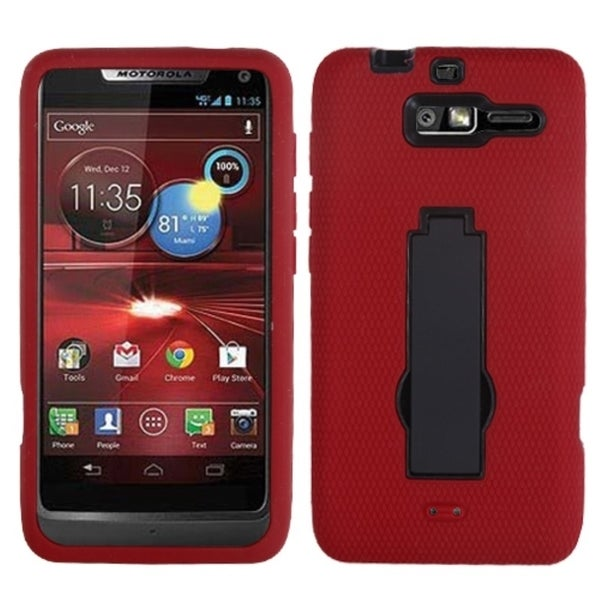 INSTEN Black/ Red Symbiosis Cover for Motorola XT907 Droid Razr M