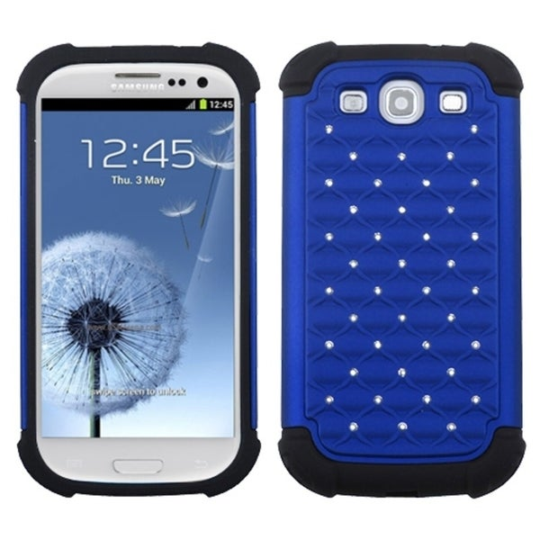 INSTEN Blue/ Black TotalDefense Phone Case Cover for Samsung Galaxy S III/ S3