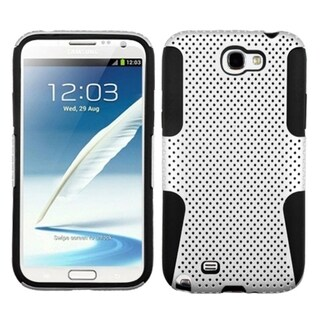 INSTEN White/ Black Astronoot Phone Case Cover for Samsung Galaxy Note 2 N7100