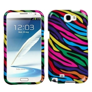 INSTEN Zebra Skin Neon Phone Protector Case Cover for Samsung Note II N7100