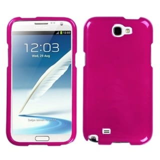 INSTEN Solid Pink Phone Protector Case Cover for Samsung Note II T889/ N7100