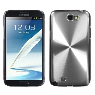 INSTEN Silver Cosmo Back Protector Phone Case Cover for Samsung Note 2 T889/ N7100