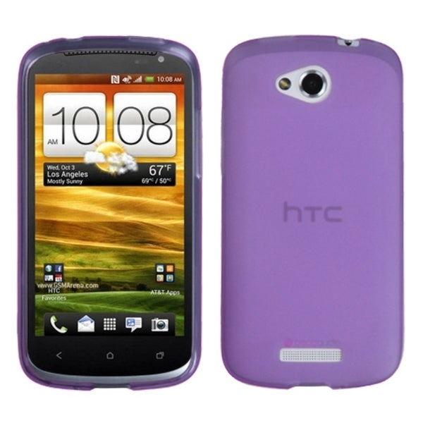 INSTEN Semi Transparent Purple Candy Skin Cover Rubber for HTC One VX
