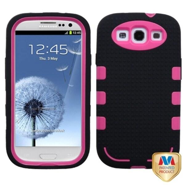INSTEN Blush/ Black TUFF Hybrid Phone Cover for Samsung Galaxy S III