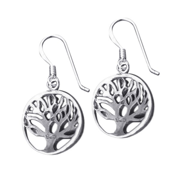 Handmade Cute Rare Branches Tree of Life .925 Silver Earrings (Thailand)