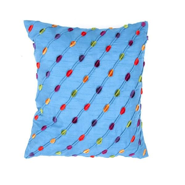 Modern Blue Muliti Color 18-inch Decorative Square Pillow