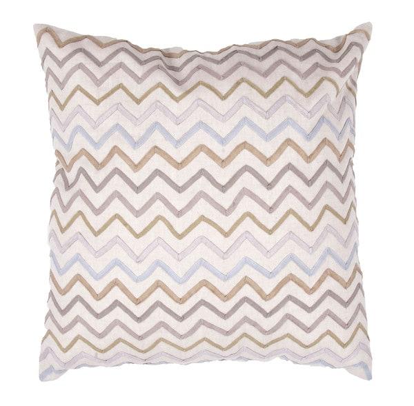 Chambray Cotton Muliti Color 18-inch Decorative Square Pillow. Opens flyout.