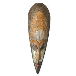 Handcrafted Sese Wood 'Remember Me' African Mask (Ghana)