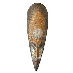 Handmade Sese Wood 'Remember Me' African Mask (Ghana)