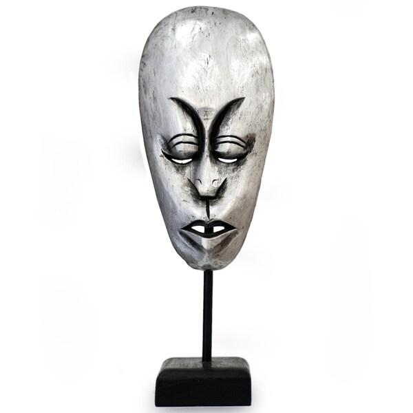 Handmade Albesia Wood 'Lombok Man II' Mask (Indonesia)