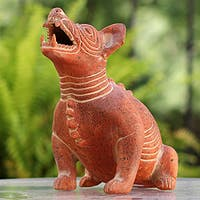 Ceramic 'Comala Dog' Figurine (Mexico)