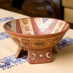Handmade Ceramic 'Fruit of The Maya' Centerpiece (El Salvador)