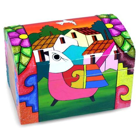 Handmade Pinewood 'El Salvador Dawn' Box (El Salvador)