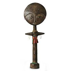 Handcrafted Sese Wood 'Ashanti Mother' Fertility Sculpture (Ghana)