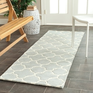 Safavieh Handmade Moroccan Chatham Gray Wool Rug with Thick Pile (2'3 x 7')