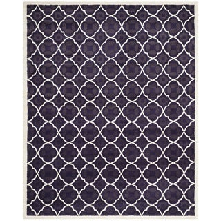 Safavieh Handmade Moroccan Chatham Purple Wool Area Rug (6' x 9')