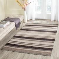 Safavieh Transitional Handwoven Moroccan Reversible Dhurrie Natural Wool Rug - 3' x 5'