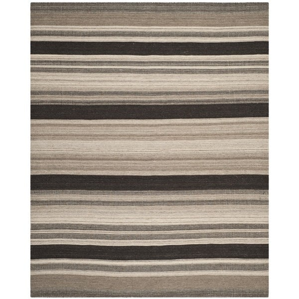 Safavieh Transitional Handwoven Moroccan Reversible Dhurrie Natural Wool Rug - 4' x 6'
