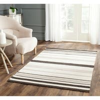 Safavieh Hand-woven Moroccan Reversible Dhurrie Natural Wool Rug - 4' x 6'