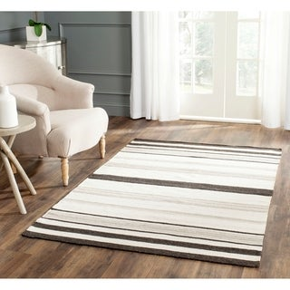 Safavieh Hand-woven Moroccan Reversible Dhurrie Natural Wool Rug (8' x 10')