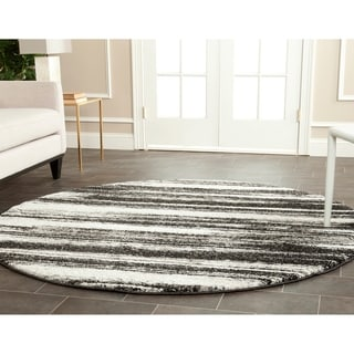 Safavieh Retro Modern Abstract Dark Grey/ Light Grey Rug (8' Round)