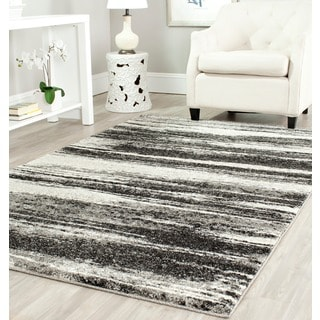 Safavieh Retro Modern Abstract Dark Grey/ Light Grey Rug (8' Square)