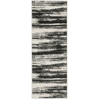 Safavieh Retro Modern Abstract Dark Grey/ Light Grey Rug (2'3 x 7')