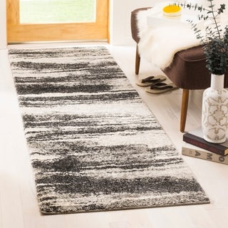Safavieh Retro Modern Abstract Dark Grey/ Light Grey Distressed Rug (2'3 x 7')