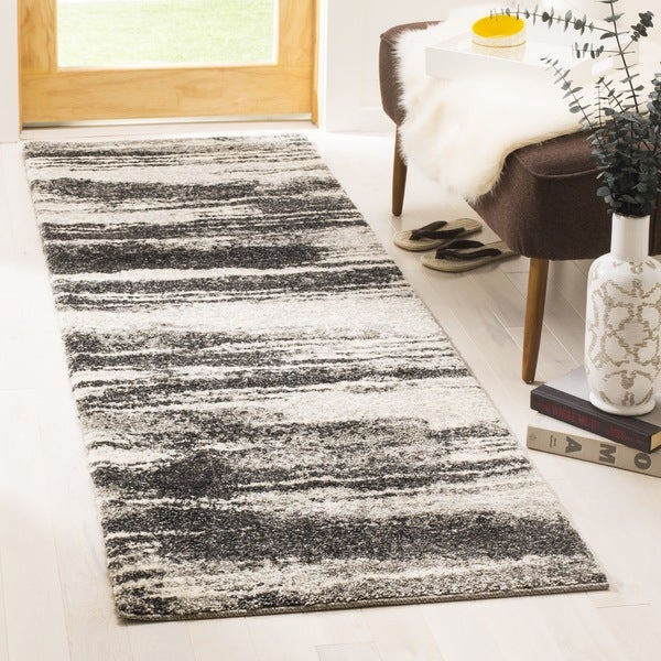 Retro Modern Rug: Safavieh Retro Modern Abstract Dark Grey/ Light Grey