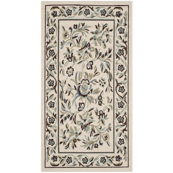 Safavieh Veranda Piled Indoor/ Outdoor Cream/ Green Rug - 2'7 x 5'
