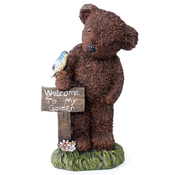 Kelkay Welcome Bear Decorative Accent