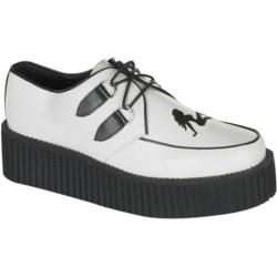 Men's Demonia Creeper 430 White Leather