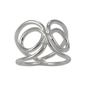 Handcrafted Alpaca Silvertone Infinity Ring (Mexico)