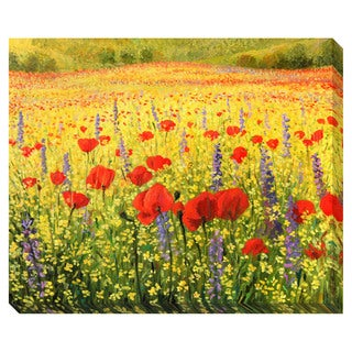 Gallery Direct Sea of Blooms Oversized Gallery Wrapped Canvas