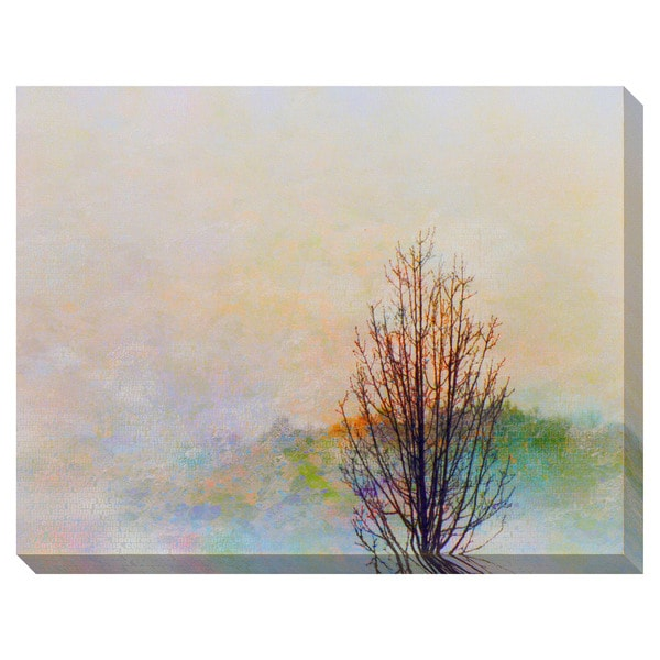 Gallery Direct Autumn Abstract Tree Oversized Gallery Wrapped Canvas