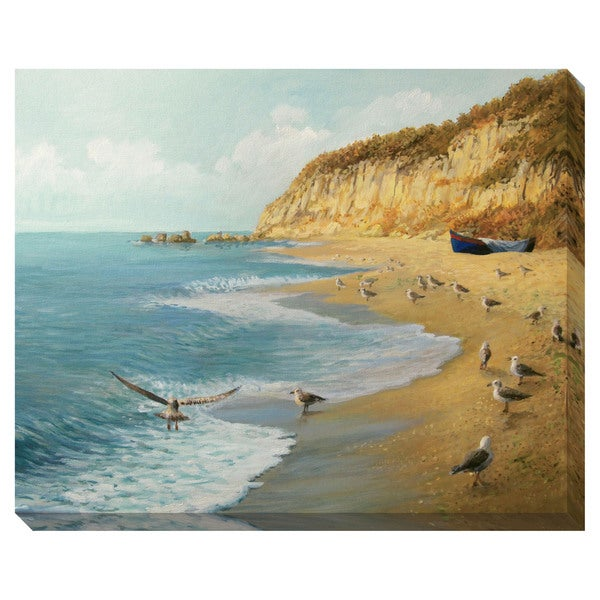 Gallery Direct At the Beach Oversized Gallery Wrapped Canvas