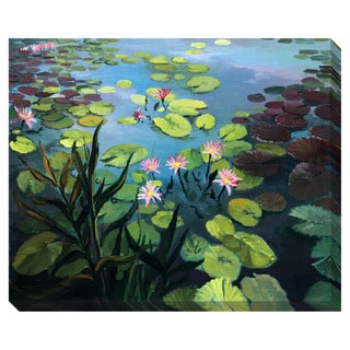 Gallery Direct Lotus Flowers Oversized Gallery Wrapped Canvas