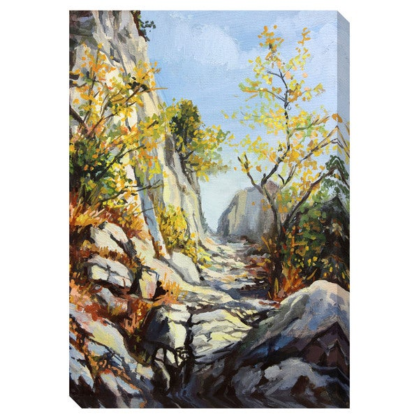 Gallery Direct Marble Path in the Autumn Oversized Gallery Wrapped Canvas