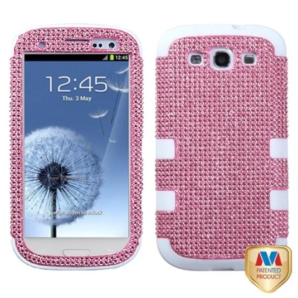 MYBAT Pink/ White Case for Samsung Galaxy S III/ S3