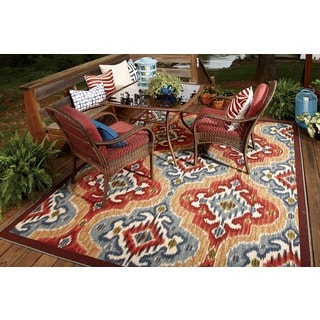 Mohawk Home Printed Indoor/ Outdoor Mystic Ikat Primary (5' x 8')