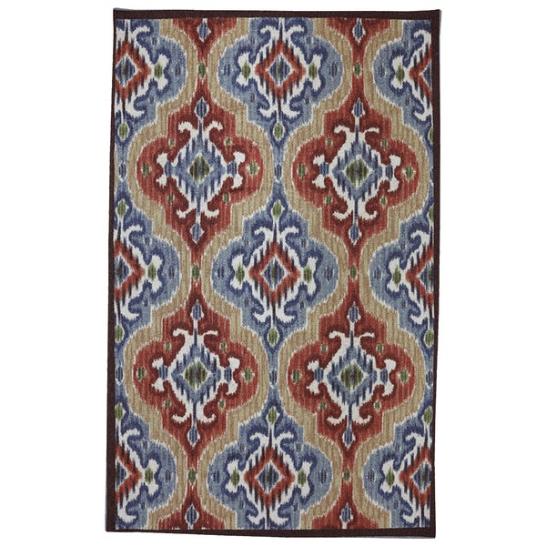 Mohawk Home Printed Indoor/ Outdoor Mystic Ikat Primary (7'6 x 10)