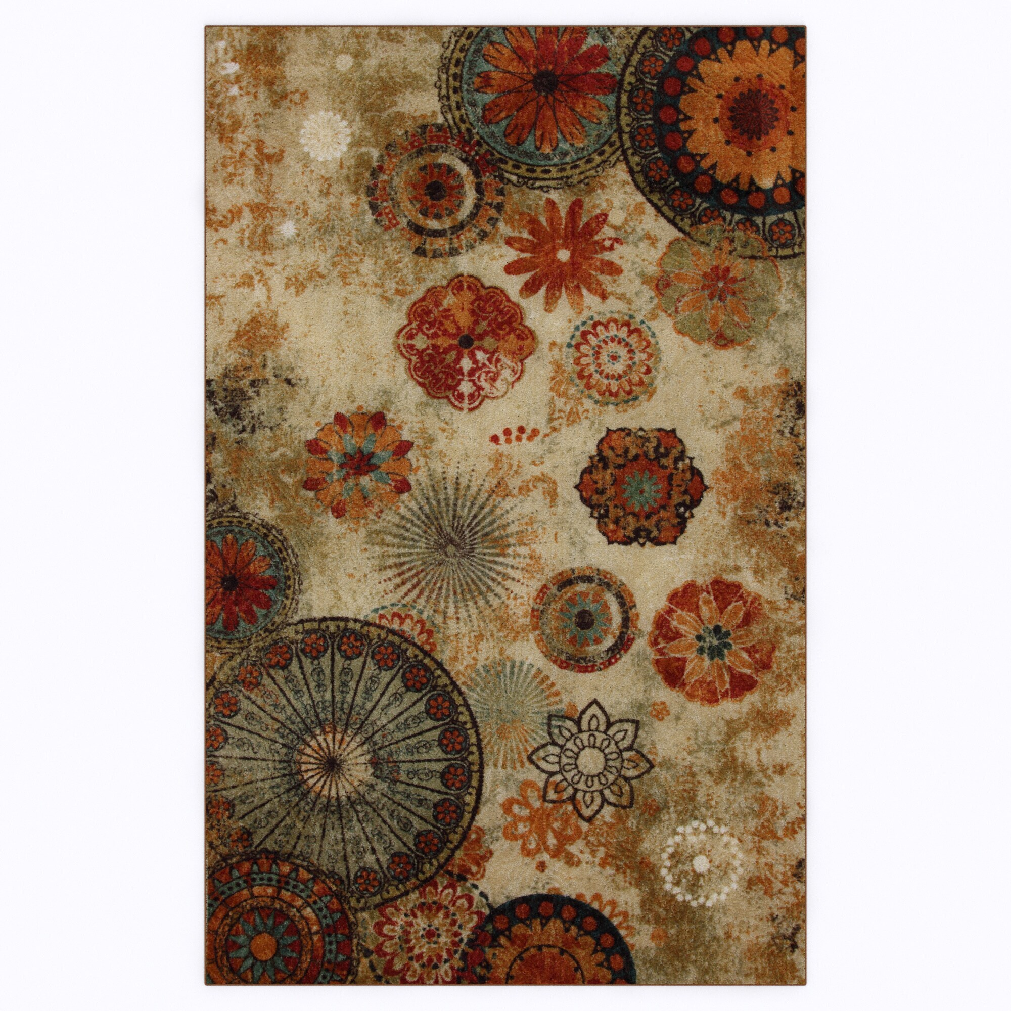Park Circle Bexley Indoor/Outdoor Printed Medallion Rug (5' x 8')