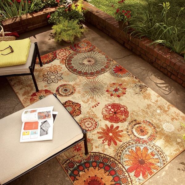 Mohawk Home Printed Indoor Outdoor Alexa Medallion Multi