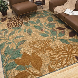 The Curated Nomad Crissy Indoor/Outdoor Floral Area Rug - 7'6 x 10'